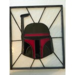 Hand Made Boba Fett Stained Glass image