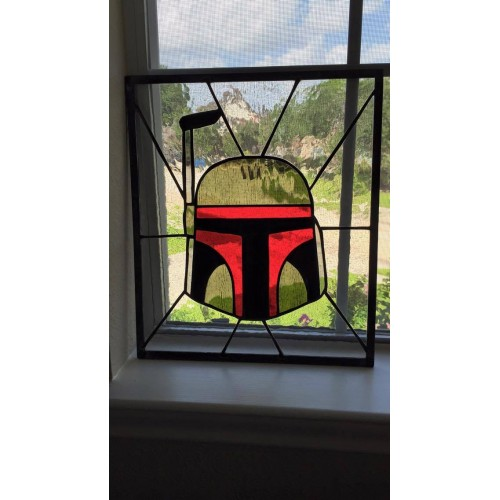 Hand Made Boba Fett Stained Glass (Brand: )