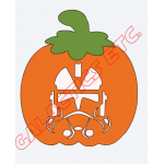 2 Color Reusable Window Cling (Halloween, Fall Design) image