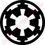 Imperial Cog Vinyl Decal image
