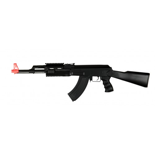 Tactical AK47 Plastic RIS Fixed Stock Electric Airsoft Rifle (Brand: UK Arms)