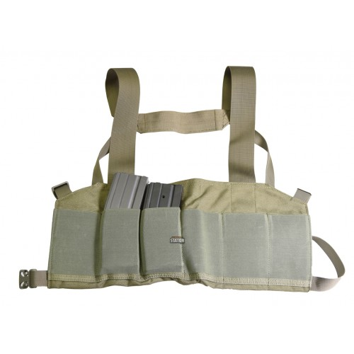 Elastic 6-Mag Speed Draw Harness - OD Green image
