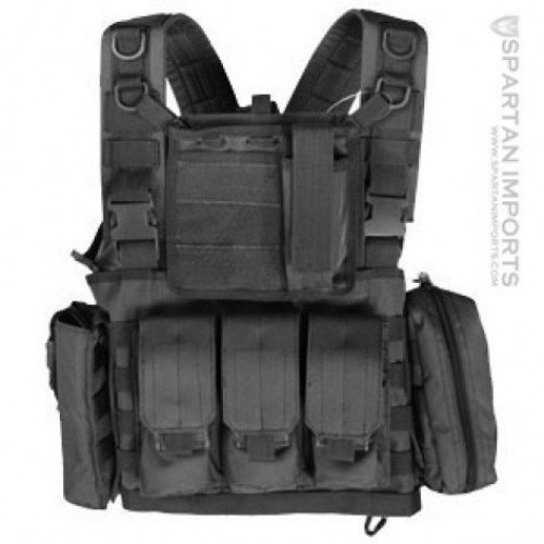 Classic Army IV Airsoft MOLLE Chest Rig with Included Pouches (Brand: )
