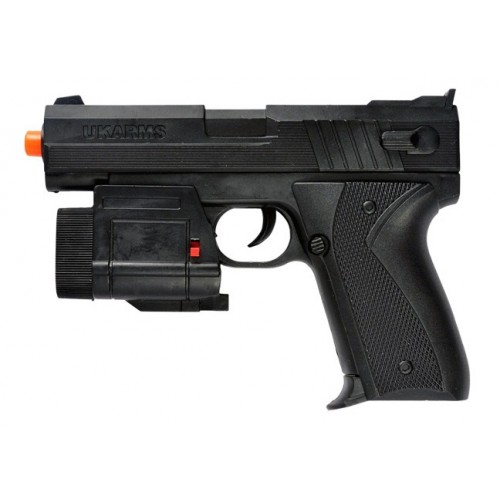 UK Arms 666AF Spring Airsoft Pistol w/ Laser and LED Flashlight (Brand: UK Arms)