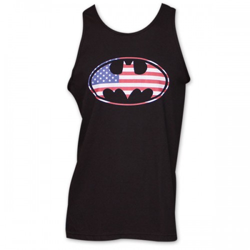Batman American Flag Logo Tank Top (Brand: )