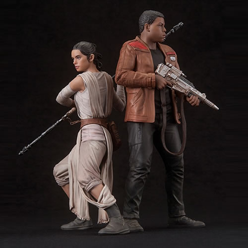 Star Wars ArtFX+ Statues - Ep VII The Force Awakens - 1/10 Scale Rey And Finn 2-Pack