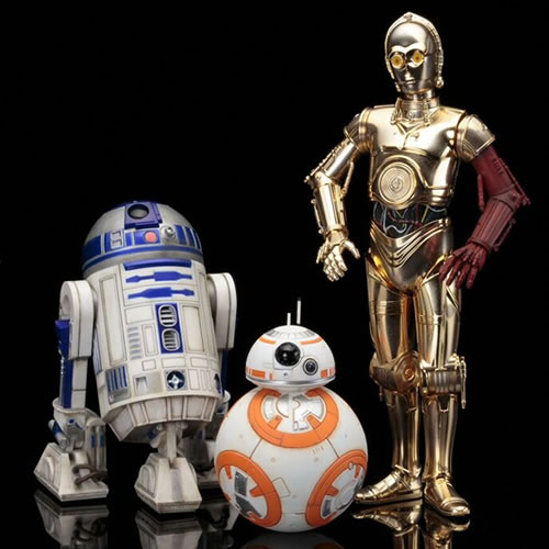 Star Wars ArtFX+ Statues - Ep VII The Force Awakens - C-3PO And R2-D2 w/ BB-8 (Brand: Kotobukiya)