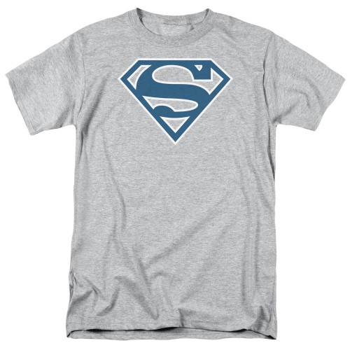 Superman Blue and White Shield Adult Regular Fit Short Sleeve (Brand: )