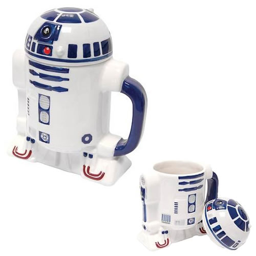 Drinkwear & Mugs - Star Wars - R2-D2 Figural Lidded Mug (Brand: )
