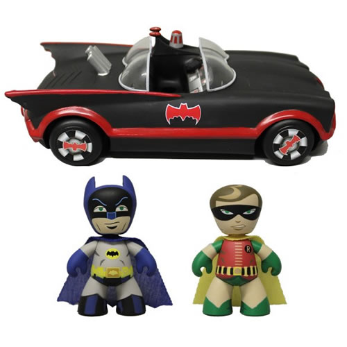 Batman 1966 Classic TV Series Mini Mez-Itz - Batmobile w/ Batman & Robin image
