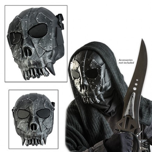 ABS Skeleton Reaper Tribal StyleAirsoft Face Mask Silver / Black (Brand: )