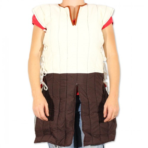 Dragoon Gambeson Arming Shirt Padded Armor Wear Medieval Renaissance Sleeveless Doublet (Brand: )